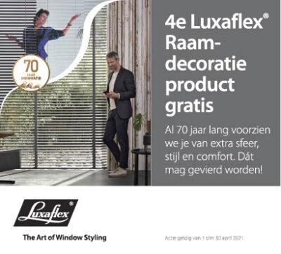 Luxaflex 4e product gratis