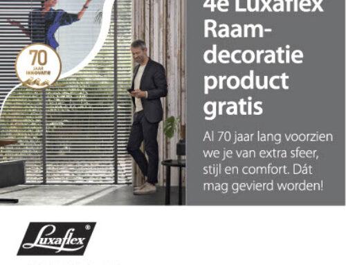 Luxaflex raamdecoratie 4e product gratis